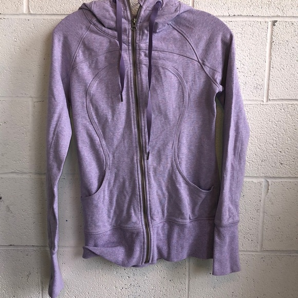 lululemon athletica Tops - Lululemon lavender sweat jacket w/ hood sz 4 61150